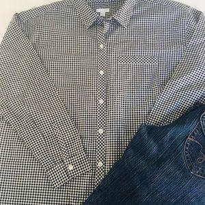J.Jill Black & White Check/Gingham Shirt-M